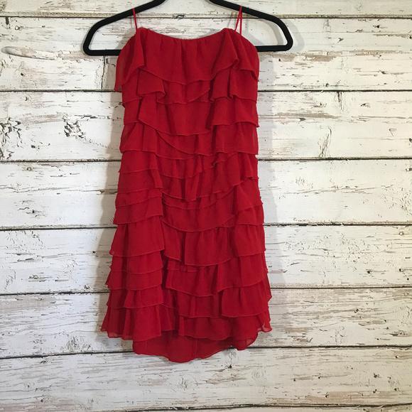 Guess Dresses & Skirts - Guess Red ruffle sleeveless dress